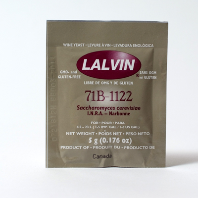 Lalvin 71B-1122 Wine Yeast, 5 gm