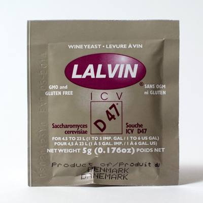 Lalvin ICV D-47 Wine Yeast, 5 gm