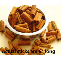 "6"" Cinnamon Sticks, 1 oz"