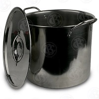 32 Qt Stainless steel stock / brew pot with lid