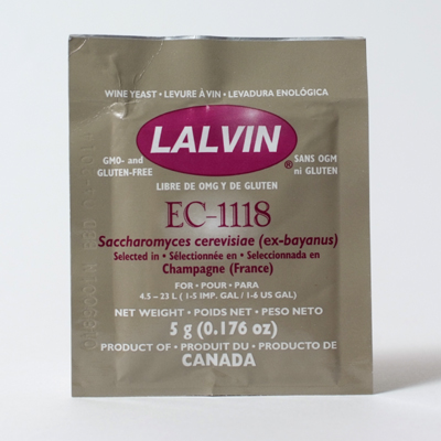 Lalvin EC-1118 Wine Yeast, 5 gm