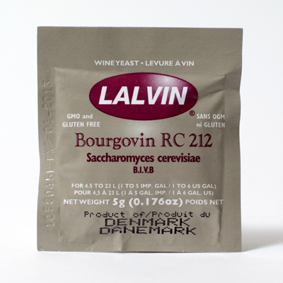 Lalvin RC212 Wine Yeast, 5 gm