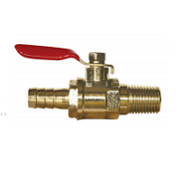 "Ball Valve, 1/4"" MPT x 3/8"" Barb with Check"
