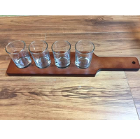 Beer Flight Sampler Wooden Plank