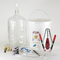 Wine Equipment Kit with 6 Gallon Glass Carboy