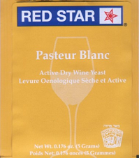 Red Star Premier Blanc (Champagne) Wine Yeast, 5 gm