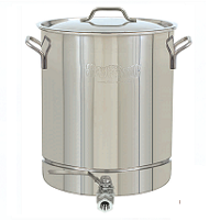 10 Gallon Stainless Steel Brew Pot with Spigot