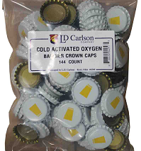Cold Activated Crown Caps, 144 Pack